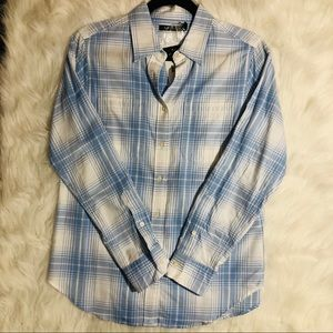 Ralph Lauren long sleeve button down plaid shirt